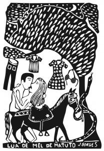 Lua de mel de matuto__xilogravura de J.Borges (José Francisco Borges)_Reprodução