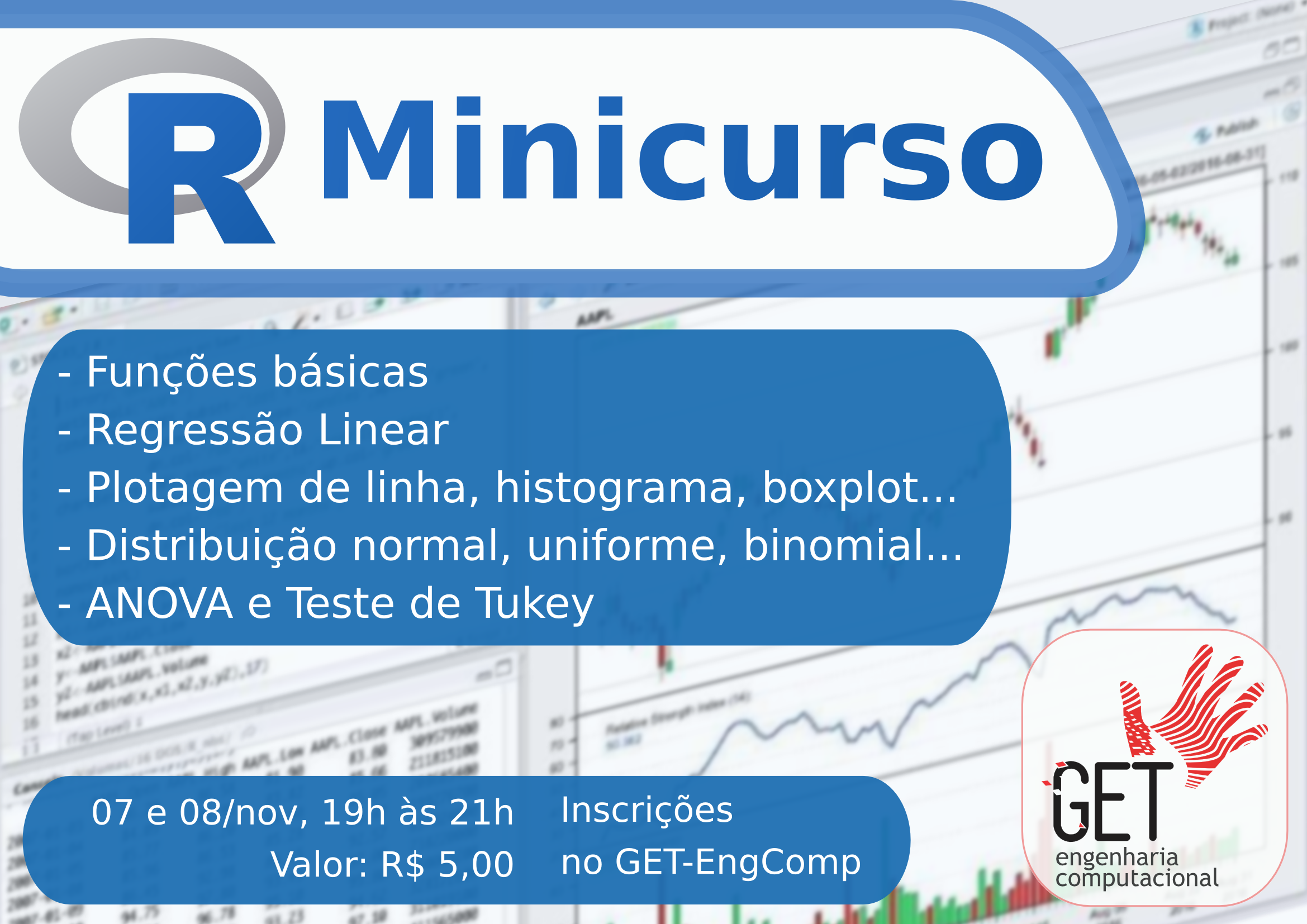 Cartaz do Minicurso de R