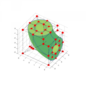 Geometria 3D modelada por NURBS.