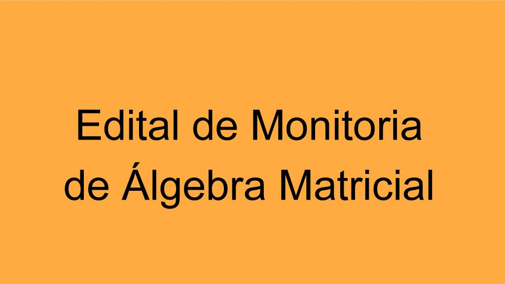 Monitoria ALGMAT
