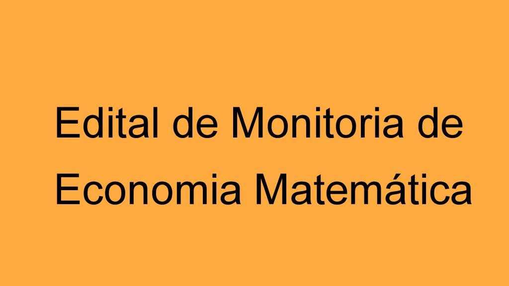 Monitoria ECOMAT