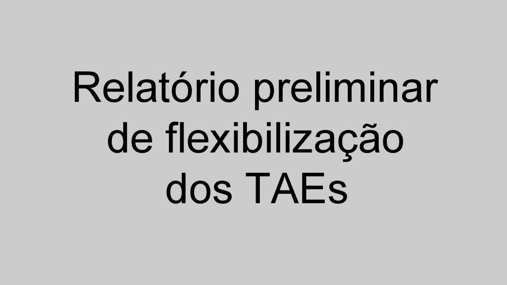 Relatório TAEs