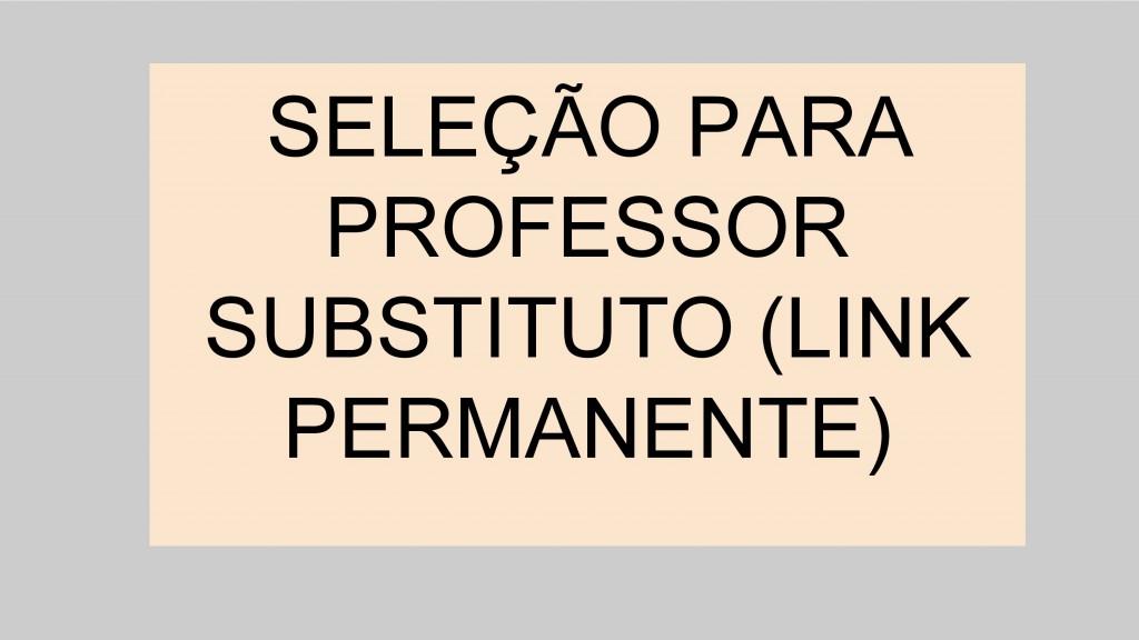 Seleção professor substituto