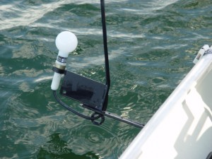 Medição de luz na água
