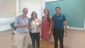 Alexandre Cuin, Thaeny C. Amaral , Marciela Scarpellini e Pedro P. Corbi.  ( Esquerda para direita)